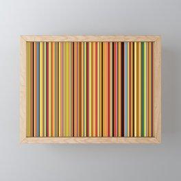 Old Skool Stripes - Bold - Extra Wide Framed Mini Art Print