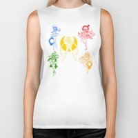 sailor moon Biker Tanks featuring Sailor Scouts / Sailor Moon by Sara Eshak