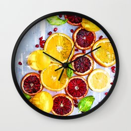 Bunch of Citrus Vitamin C - For Fruit Lovers Wall Clock