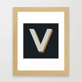Type Seeker - V Framed Art Print