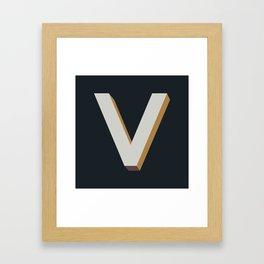 Type Seeker - V Framed Art Print