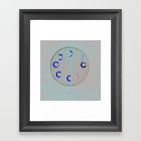 Lunar Activity Framed Art Print