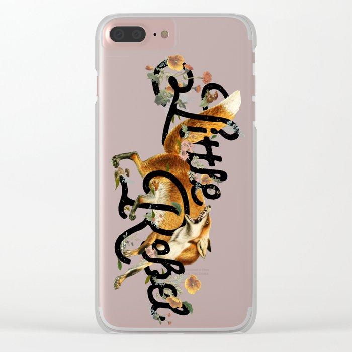Little Rebel Clear iPhone Case
