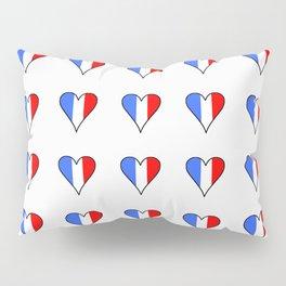 Flag of France heart- France, Français,française, French,romantic,love,gastronomy Pillow Sham