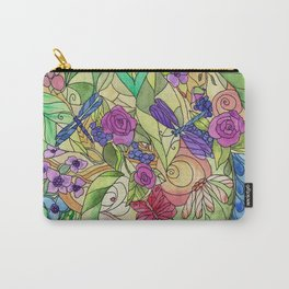 Stained Glass Garden Too Carry-All Pouch