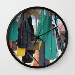 Oars Wall Clock