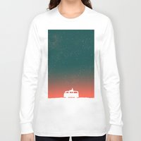 night Long Sleeve T-shirts featuring Quiet Night - starry sky by Picomodi