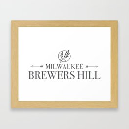 Brewers Hill Wordmark Black Framed Art Print