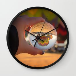 A Clearer View refraction photgraphy hot air balloons Wall Clock