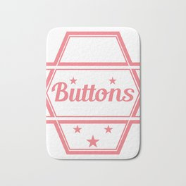 """Yes I know That's All These Buttons Are For"" tee design. Makes a nice and unique gift too!  Bath Mat"