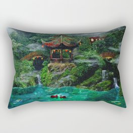Tale of the Red Swans Rectangular Pillow