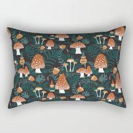 Mushroom Forest Gnomes Rectangular Pillow