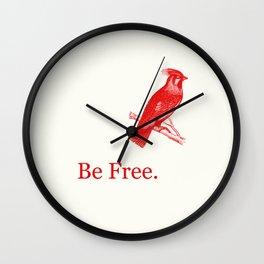 Lady Redbird Wall Clock