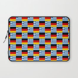 Mix of flag: Germany and greece Laptop Sleeve