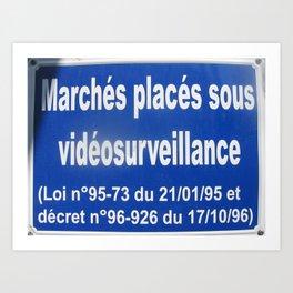 Sign No. 7: Les Marchés aux Puces dans le Porte de Clignancourt (2008) Art Print