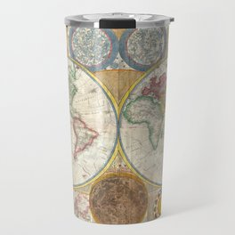 1794 Vintage World Map Samuel Dunn Travel Mug