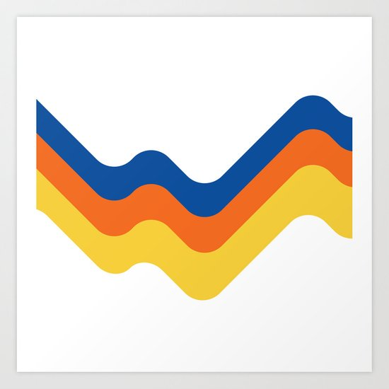 Sound Wave Art Print