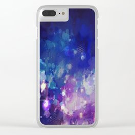 Sparkle Nights Clear iPhone Case