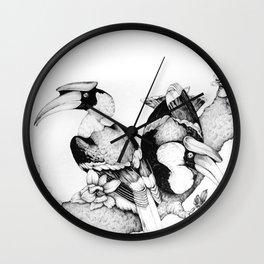 The Hornbills Wall Clock
