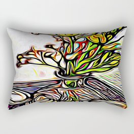 Shadow Flowers Rectangular Pillow