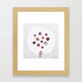 Ohajiki (おはじき) Framed Art Print