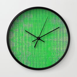 Green translucent wavy lines hovering all over the blue lines messy background Wall Clock