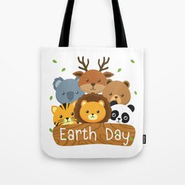 Earth Day For Kids Love Animals Tote Bag