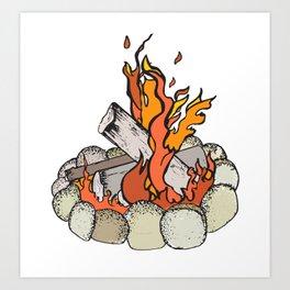 Round the Campfire Art Print