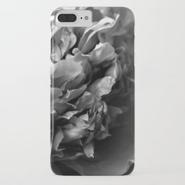 Black and White Summer Peony iPhone Case