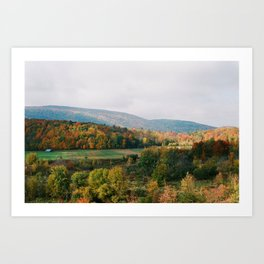 Valley in the Fall - 35mm Art Print