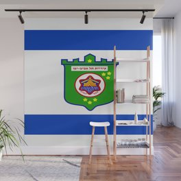 flag of tel aviv Wall Mural