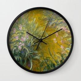 The Path through the Irises Wall Clock