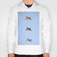 boys Hoodies featuring Fly Boys by Leah McPhail