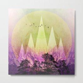 TREES under MAGIC MOUNTAINS III Metal Print