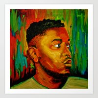 kendrick lamar Art Prints featuring Kendrick Lamar by Molly Forster