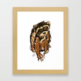 Itty the ferret boy Framed Art Print