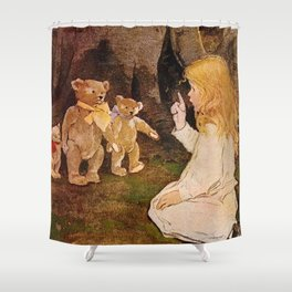 """Goldilocks and the Bears"" by Jessie Willcox Smith Shower Curtain"