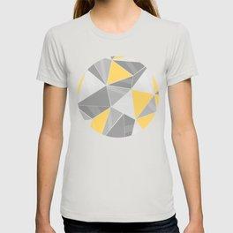 Pattern, grey - yellow T-shirt