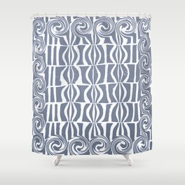 Blue Swril Shower Curtain
