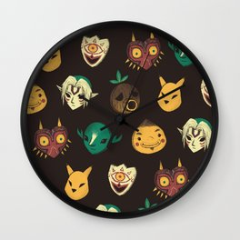 pattern of masks.  Wall Clock
