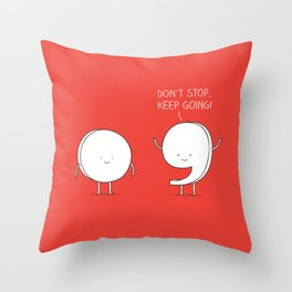 positive punctuation Throw Pillow