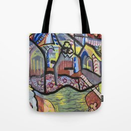 The Church at Auvers a la Mela Tote Bag
