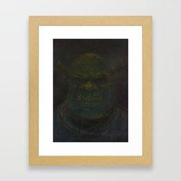 Shrek (oil on canvas) Framed Art Print