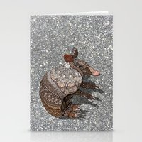 ornate Stationery Cards featuring Ornate Armadillo by ArtLovePassion