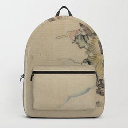 Japanese Art Print - Hokusai - Man Carrying Fish (1830s) Backpack