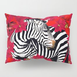ZEBRA AND FLOWERS Pillow Sham