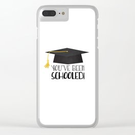 You've Been Schooled! Clear iPhone Case