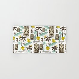 Island Tiki - White Hand & Bath Towel