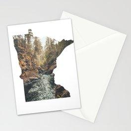 Cascade River State Park Minnesota Outline Stationery Cards