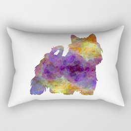 Australian Silky Terrier in watercolor Rectangular Pillow